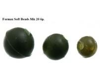 Гумени топчета - стопери FORMAX SOFT BEADS MIX 20 бр.