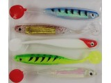 Силикони за риболов на спининиг -  комплект 5 бр.