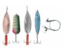 Блесни за риболов на щука и бяла риба - комплект Gold Star