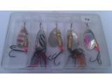Блесни за риболов на костур и пъстърва - комплект