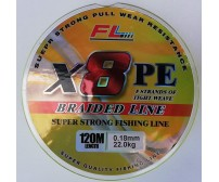 Плетено влакно за риболов - FL 8X