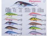 Плаващ воблер за риболов Kenart Dynamic Floating - 5 см. - 6 см. - 7 см.