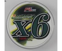 Плетено влакно за спининг риболов - FL X POWER X6