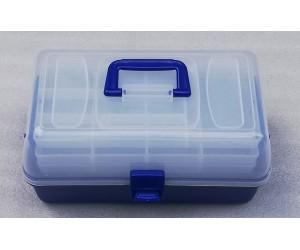 Риболовен куфар за такъми и аксесоари с 3 рафта