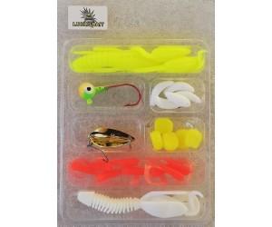 Силикони за риболов на спининиг, плувка и дъно - комплект 22 бр.